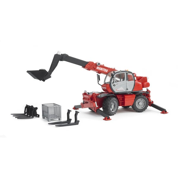 Bruder Manitou Red/Black Metal Telescopic Loader