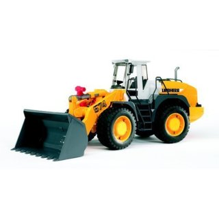 Bruder Toys 'Liebherr' Black and Yellow Metal Articulated Road Loader L 574