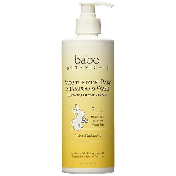 Babo Botanicals Oatmilk Calendula 16-ounce Moisturizing Baby Shampoo and Wash Oatmilk Calendula