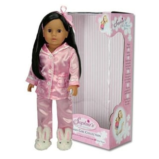 Sophia's Julia Dark Brown 18-inch Jointed Arms/Legs Soft-body Doll