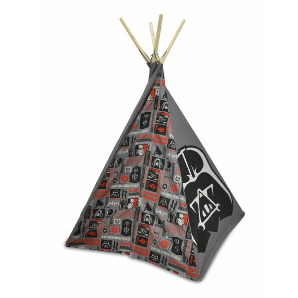 Star Wars Red/Black/Grey Cotton Fabric and Wood Teepee Tent