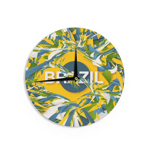KESS InHouseDanny Ivan 'Brazil' World Cup Wall Clock 21329667