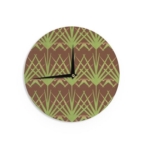 KESS InHouseAlison Coxon 'Mint Choc' Wall Clock