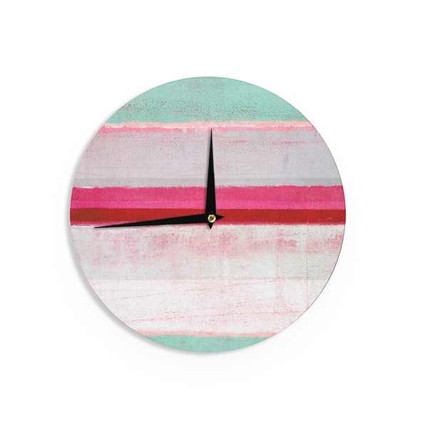 KESS InHouseCarolLynn Tice 'Higher' Pink Mint Wall Clock