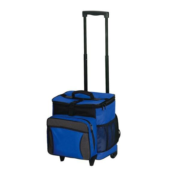 Blue Polyester Multi-compartment Picnic Bag
