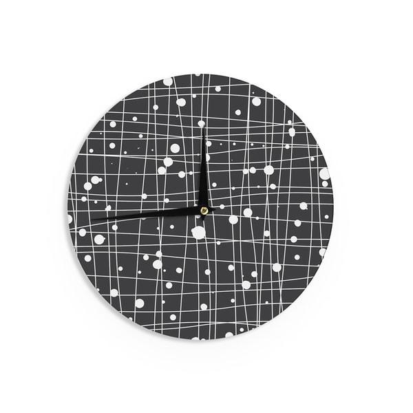 KESS InHouseBudi Kwan 'Woven Web Mono' Wall Clock