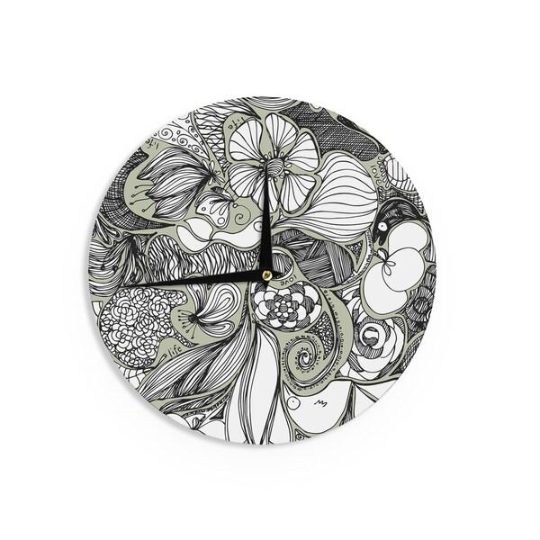 KESS InHouseAnchobee 'Doodle Dos' Gray Green Wall Clock