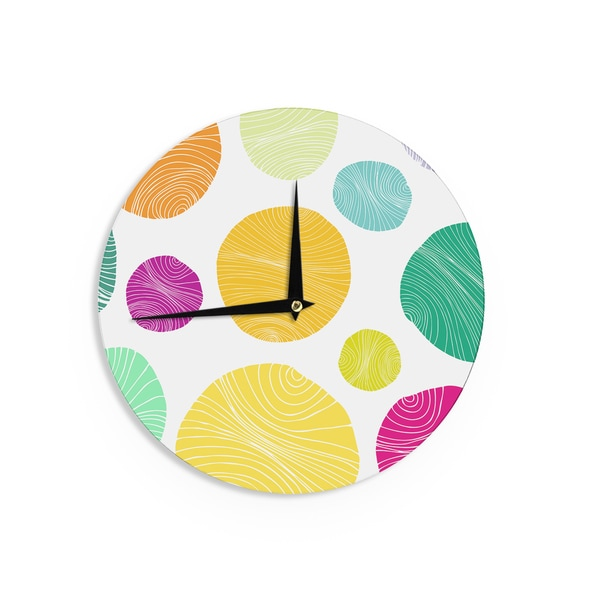 KESS InHouseAnchobee 'Eolo' Multicolor Circles Wall Clock