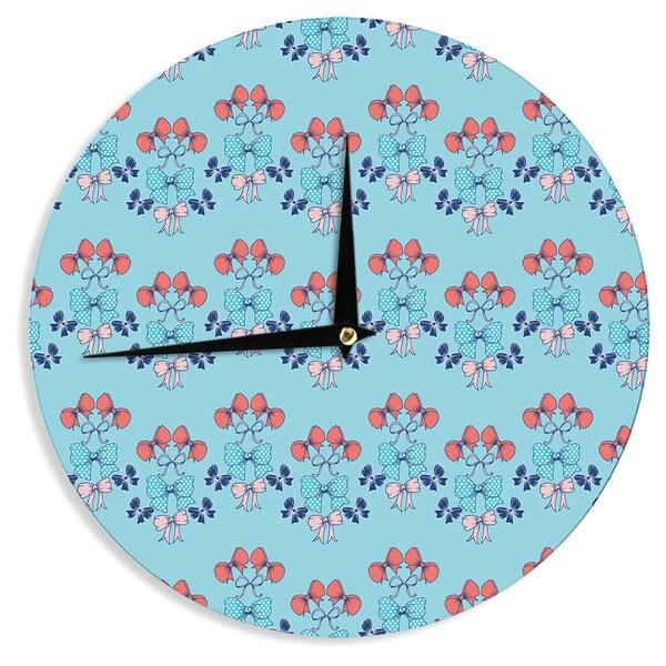 """Kess InHouse Anneline Sophia """"Bows"""" Wall Clock 12"""" 21331861"""