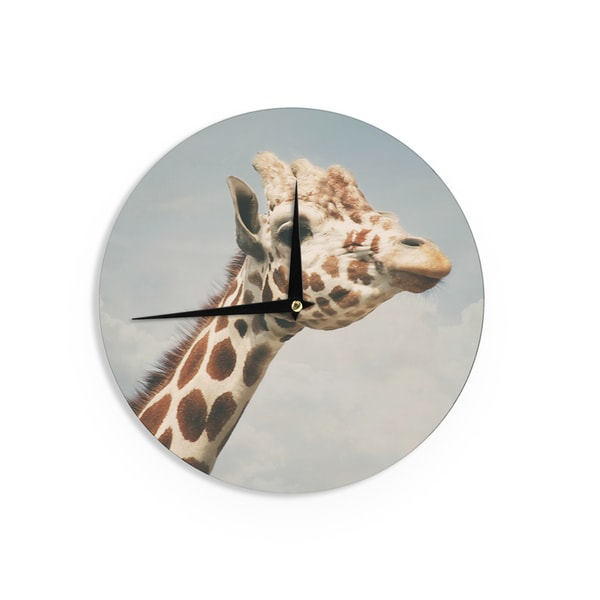 KESS InHouseAngie Turner 'Giraffe' Animal Wall Clock
