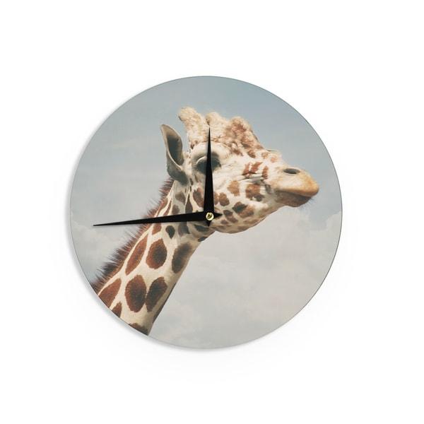 KESS InHouseAngie Turner 'Giraffe' Animal Wall Clock