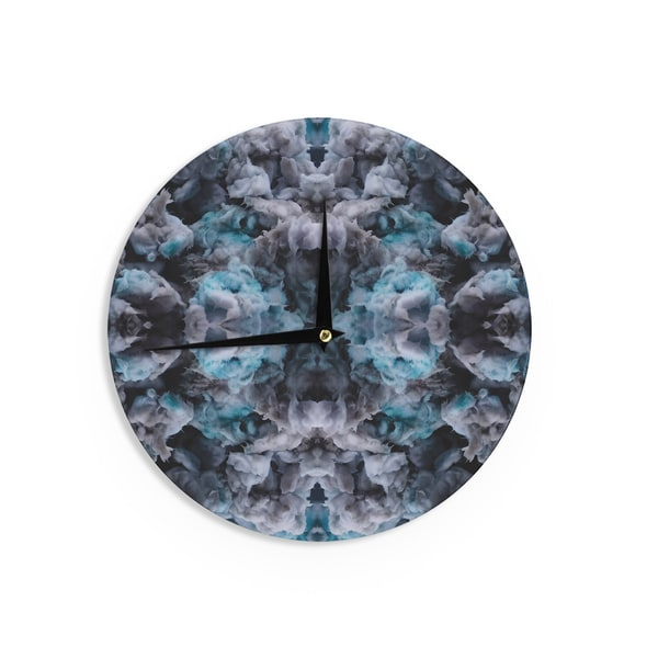 KESS InHouseAkwaflorell 'Abyss' Blue Black Wall Clock