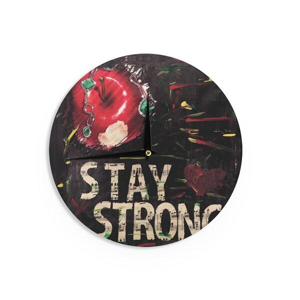 KESS InHouseAlexa Nicole 'Stay Strong' Wall Clock