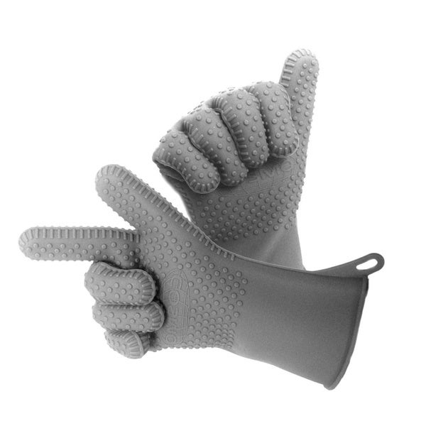 Cosmo Heat Resistant One Size Fits Most BBQ and Kitchen Glove Set