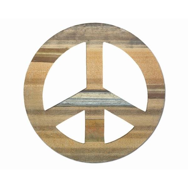 Large Sahara Peace Sign