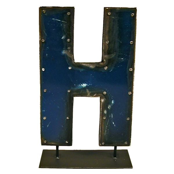Groovystuff Metal Letters On A Stand H WA-0337-H