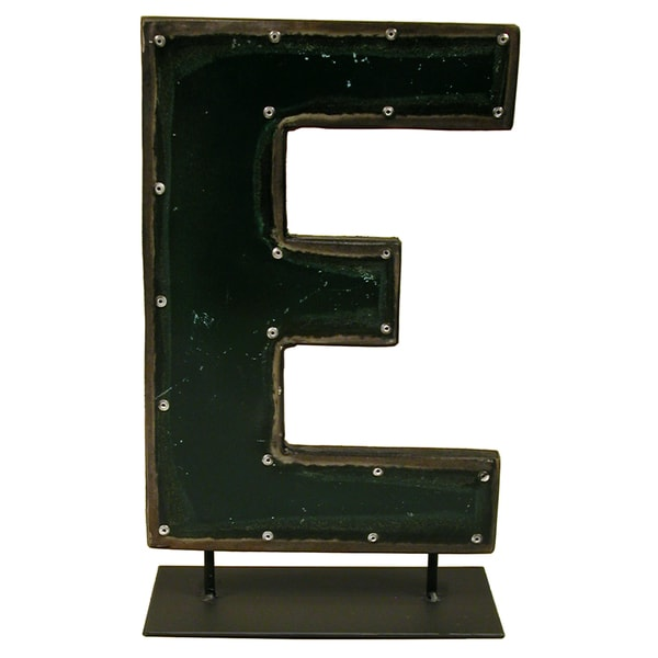 Groovystuff Metal Letters On A Stand E WA-0337-E