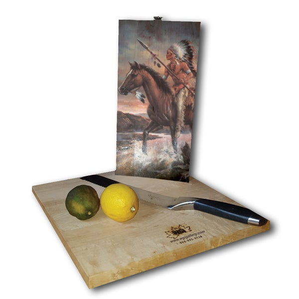 WGI Gallery Legends of the West White Birch Plywood Cutting Board