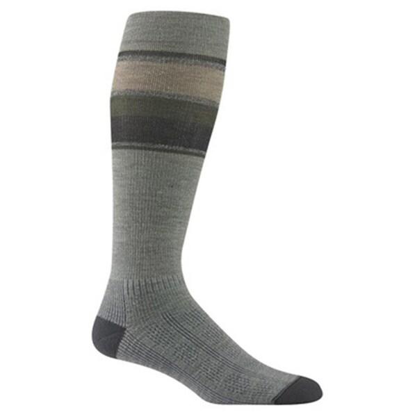 Wigwam Unisex Green/Grey Wool/Spandex Large Fusion Socks