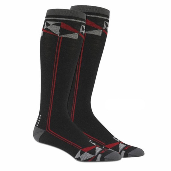 Wigwam Unisex Black Wool Blend Large Snow Prism Socks