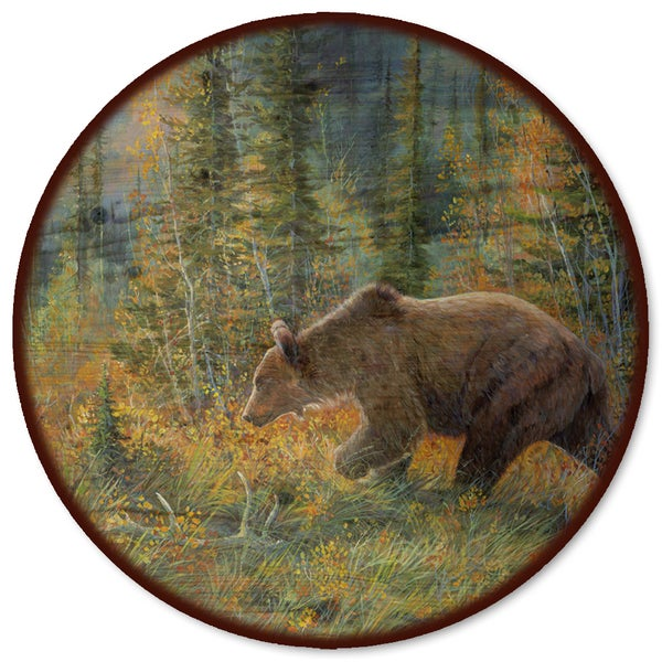 WGI Gallery 'The Grizzly Walk' Multicolor Steel and Wood Lazy Susan 21333499