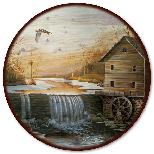 WGI Gallery 'The Old Mill' Wood Lazy Susan