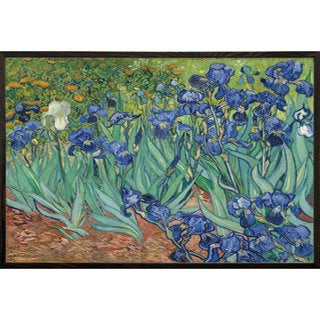 Van Gogh 'Irises' Art Print with Walnut Architect 24 x 30 Picture Frame