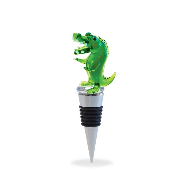 Puzzled Cheers Glass Alligator Wine Stopper 21334575