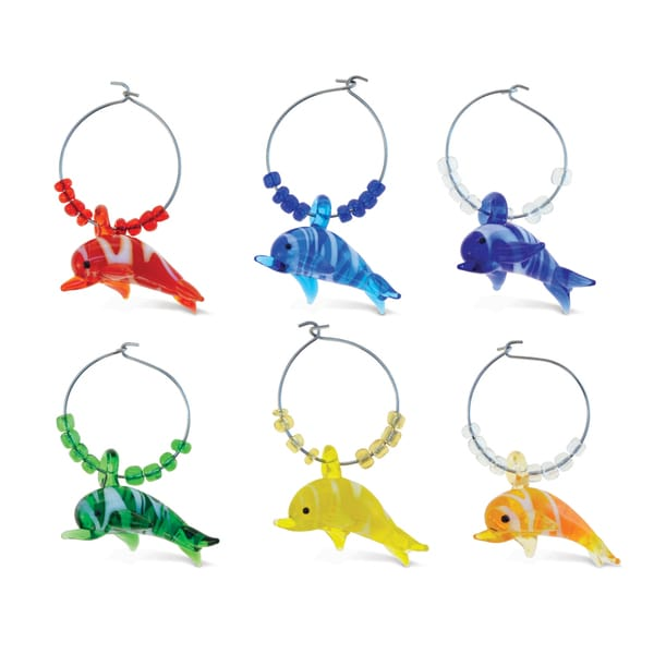 Cheers - Wine Charms - 2 Glass Dolphin