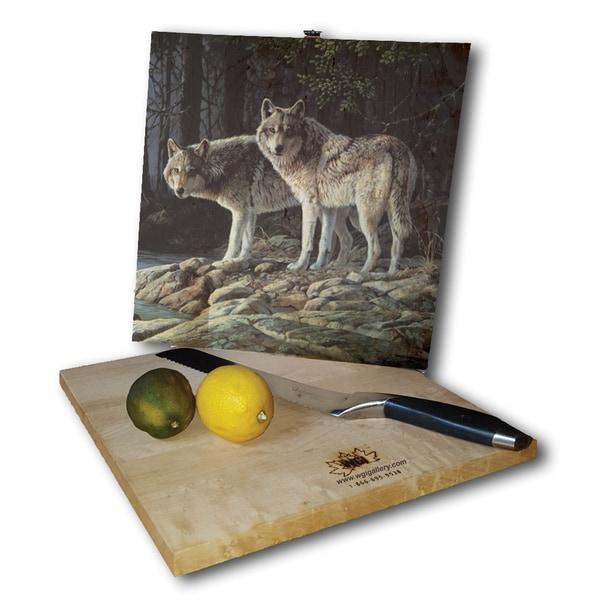 WGI Gallery 'Shades of Grey' Wood Cutting Board
