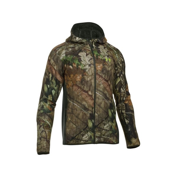 Under Armour Green/Brown Polyester Stealth Fleece Hoodie