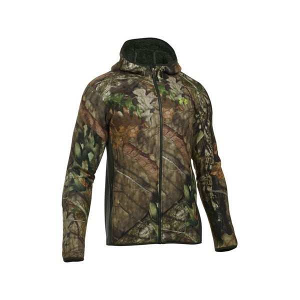Under Armour Green/Brown Polyester Stealth Fleece Hoodie 21337588