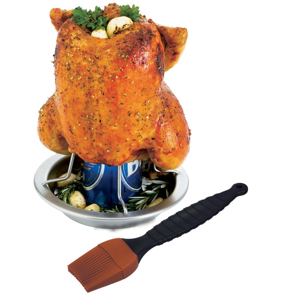 GrillPro 41333 Stainless Steel Chicken Roaster