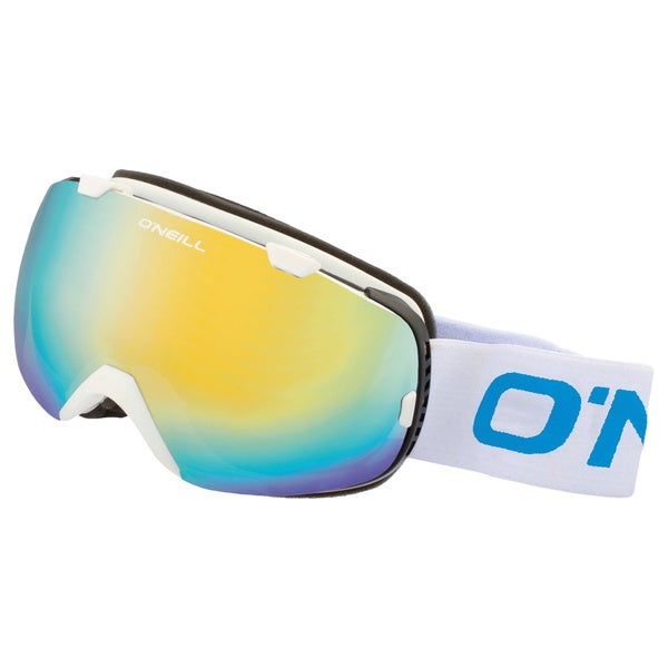 SnowGoggles Large White Gold Mirror