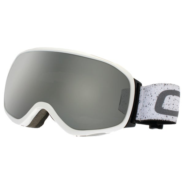 SnowGoggles Medium White Silver Mirror