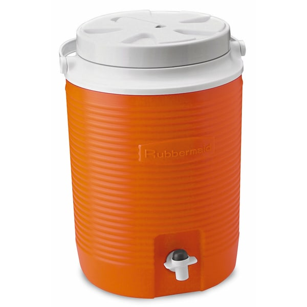 Rubbermaid FG15300411 2 Gallon Orange Victory Thermal Jug Water Coolers