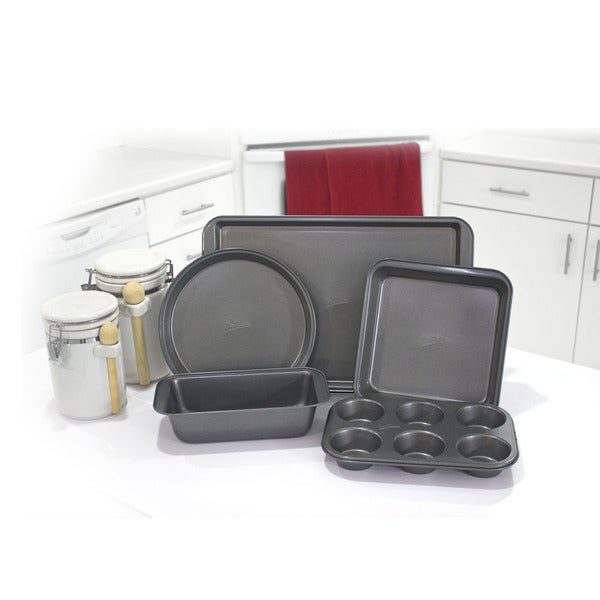 Mrs. Fields Black Carbon Steel Baking Essentials Set (5 Pieces)