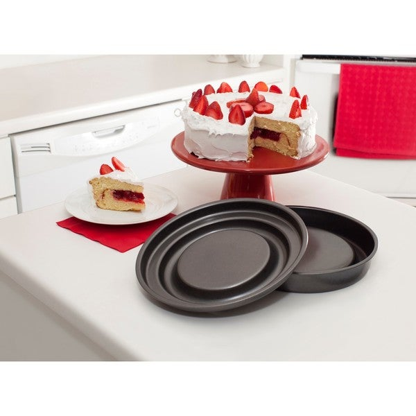 Mrs. Fields Fill N Flip Carbon Steel Locking Round Layer Cake Set