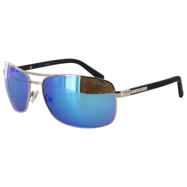 Guess Mens GU6835 Rectangular Wire Rim Sunglasses