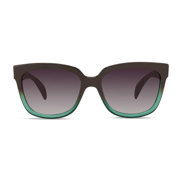 Christian Siriano Edie Green/Grey Sunglasses