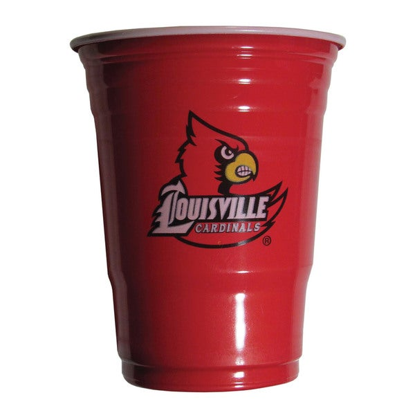 NCAA Louisville Cardinals Sports Team Logo Plastic Game Day Cups (Set of 18) 21357519
