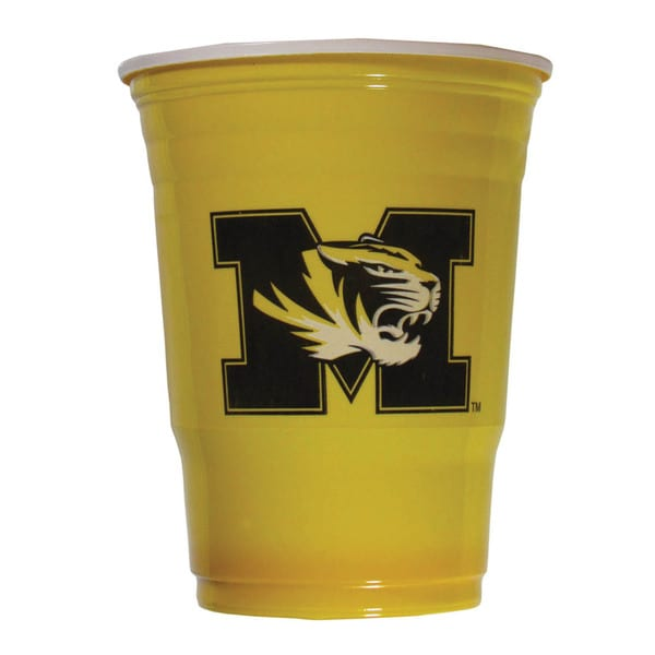 Siskiyou NCAA Missouri Tigers Sports Team Logo Plastic Game Day Cups 21357813