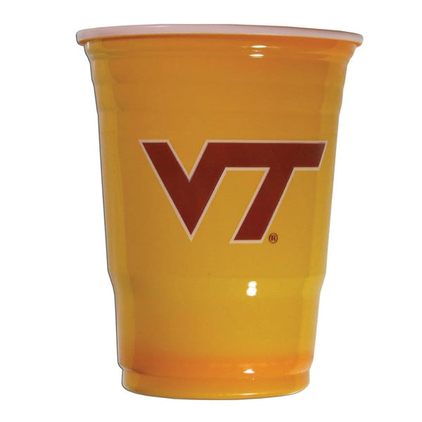 NCAA Virginia Tech Hokies Sports Team Logo Plastic Game Day Cups