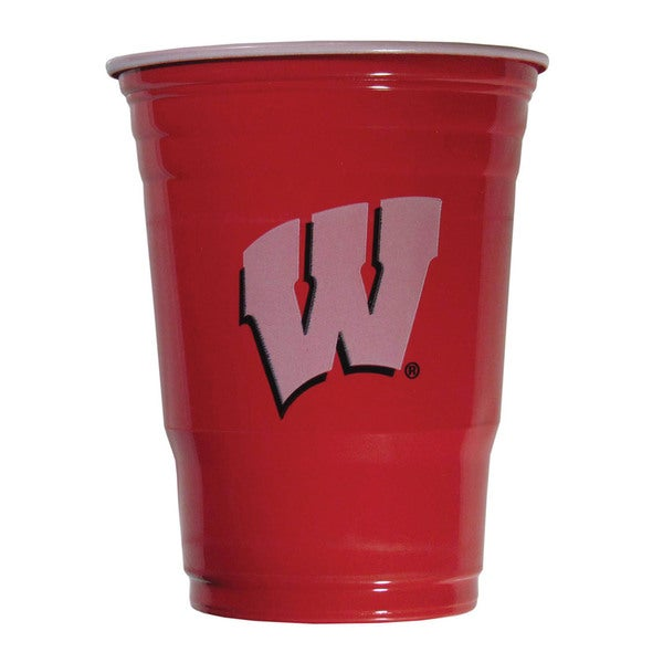 NCAA Wisconsin Badgers Sports Team Logo Game Day Plastic Cups 21357827