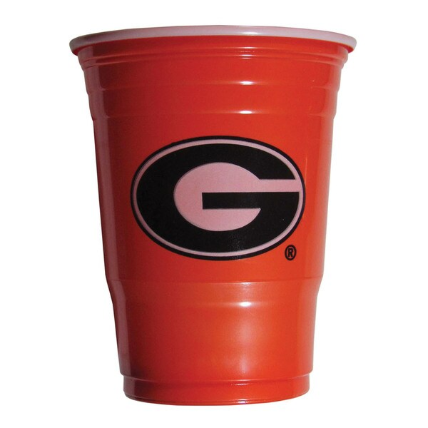 NCAA Georgia Bulldogs Sports Team Logo Plastic Game Day Cups 21357829