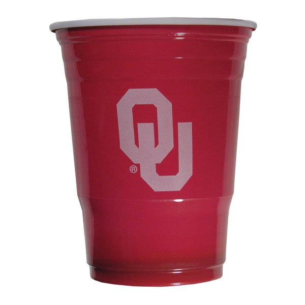 NCAA Oklahoma Sooners Plastic Sports Team Logo Game Day Cups (Sleeve of 18) 21357831