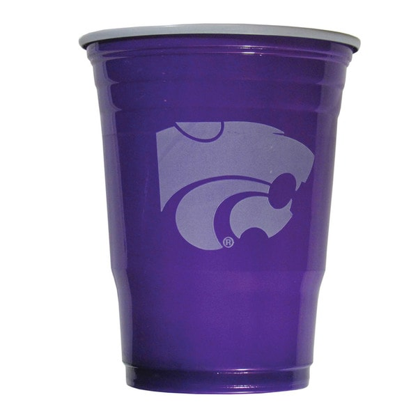 NCAA Kansas State Wildcats Sports Team Logo Plastic Game Day Cups 21357857