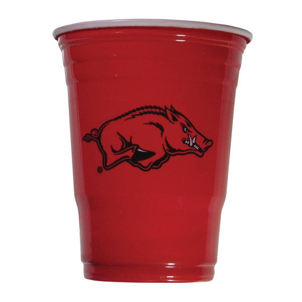 NCAA Arkansas Razorbacks Sports Team Logo Plastic Game Day Cups 21357860