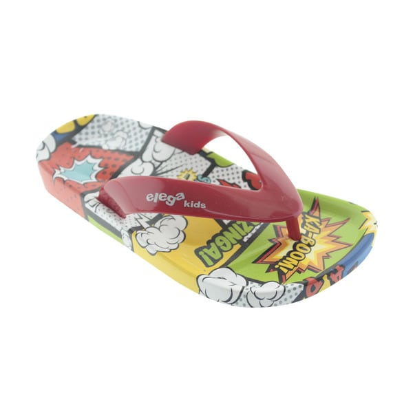 Ish Comic Kids' KaBoom Red PVC Summer Shoes