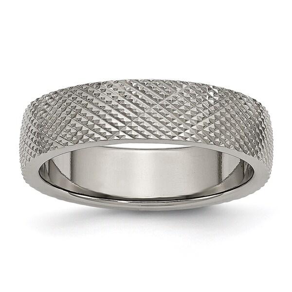 Titanium 6mm Textured Band